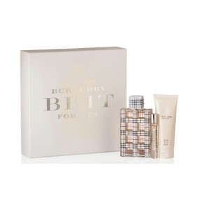 Burberry Brit Set (EDP 100ml + EDP 7.5ml + BL 75ml) FOR WOMAN