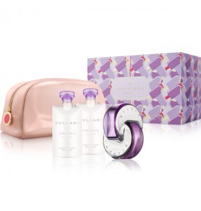 Bvlgari Omnia Amethyste Set (EDT 65ml + BL 75ml + BL 75ml + Bag) FOR WOMAN