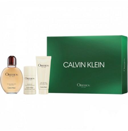 Calvin Klein Obsession For Men Set (EDT 125ml + Deo Stick 75ml + ASB 100ml) FOR MAN