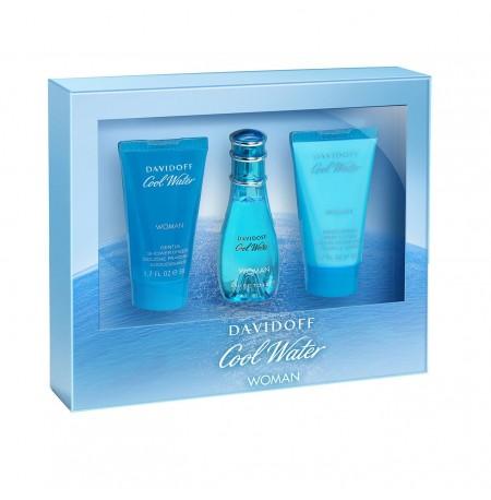 Davidoff Cool Water Set (EDT 30ml + BL 50ml + SG 50ml) FOR MAN